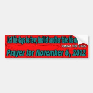 Obama Prayer Bumper Sticker