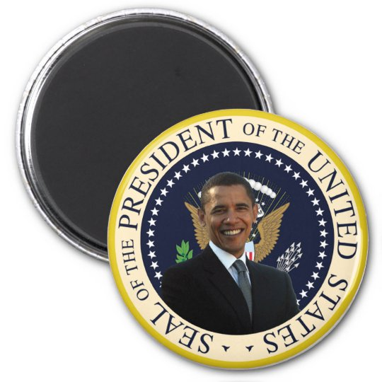 Obama Presidential Seal 6 Cm Round Magnet