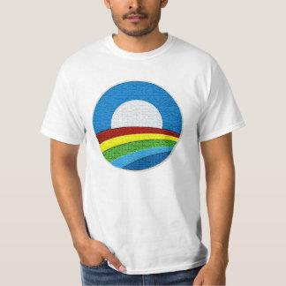 Obama Rainbow Circle Design T-shirt