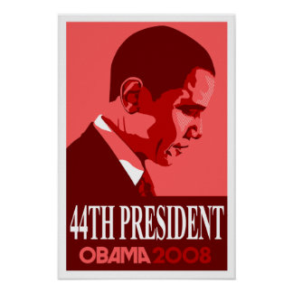 Obama Red 44th President Poster 3
