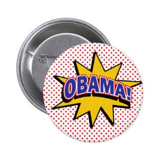 OBAMA! Retro Comic Halftone Print 6 Cm Round Badge