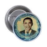Obama Retro-Style Wave Button