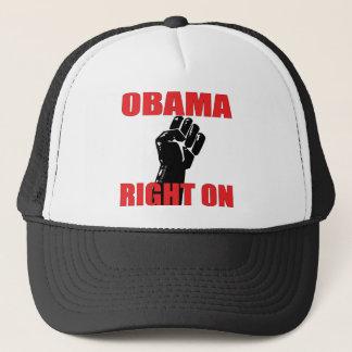 OBAMA RIGHT ON TRUCKER HAT