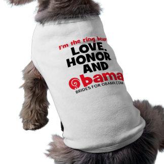 Obama ring bearer sleeveless dog shirt