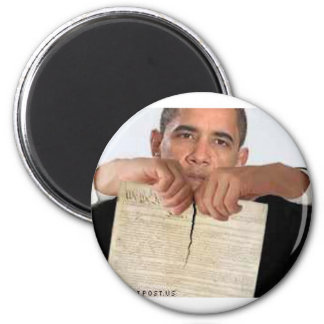 Obama Ripping Up the Constitution 6 Cm Round Magnet