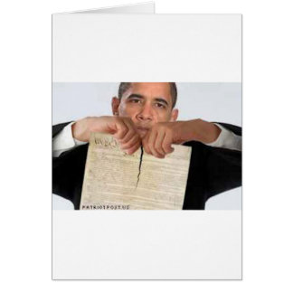 Obama Ripping Up the Constitution Greeting Cards