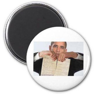 Obama Ripping Up the Constitution Refrigerator Magnet