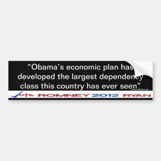 Obama's Dependency Class Sticker Bumper Sticker