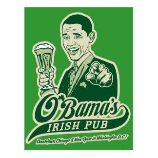 Obama s Irish Pub Post Card