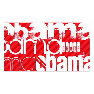 Obama; Scarlet Red Stripes Double-Sided Standard Business Cards (Pack Of 100)