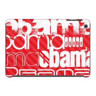 Obama; Scarlet Red Stripes iPad Mini Cases