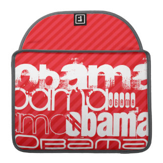 Obama; Scarlet Red Stripes Sleeves For MacBook Pro