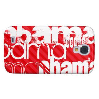 Obama; Scarlet Red Stripes Samsung Galaxy S4 Case