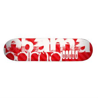 Obama; Scarlet Red Stripes Skate Board