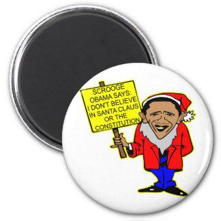 Obama Scrooge No Santa Claus No Constitution Magnet