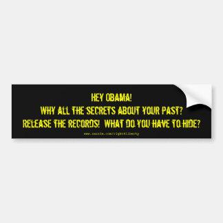 Obama Secrets Bumper Sticker