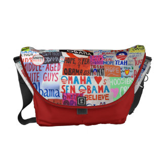 Obama Sign Collage Messenger Bag