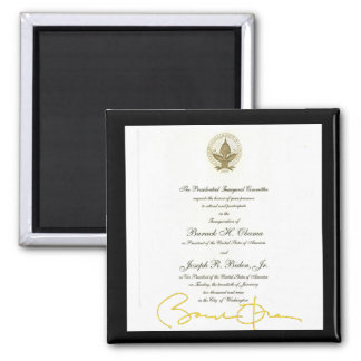Obama signature official invitation magnet