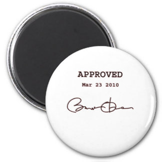 Obama Signs Bill, Health Care Reform March 23 2010 6 Cm Round Magnet
