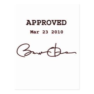 Obama Signs Bill, Health Care Reform March 23 2010 Postcard