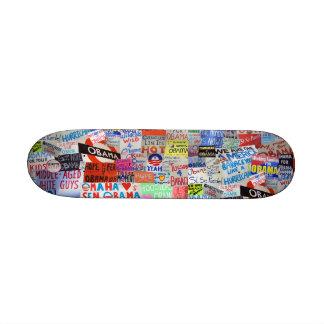 Obama SIgns of Hope Skateboard