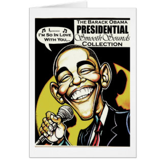 Obama Sings! Greeting Card