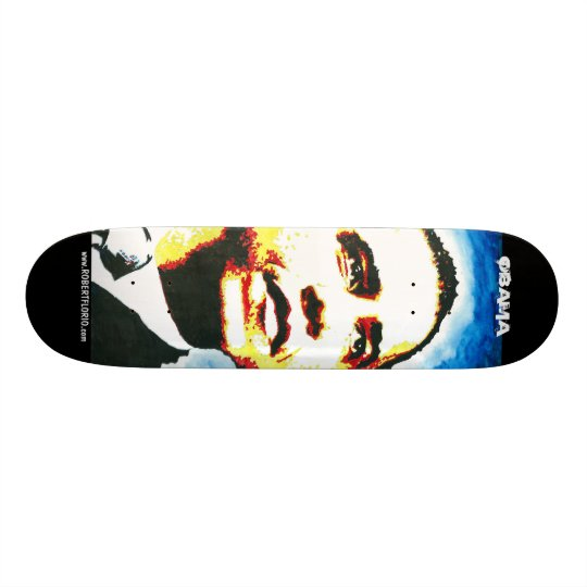 Obama Skateboard The Man