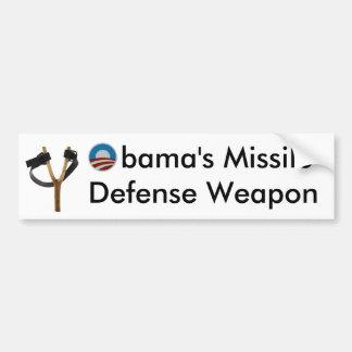 Obama Slingshot Missile Defense Weapon Bumper Sticker