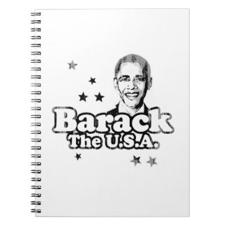 Obama Slogan Barack the USA Faded.png Spiral Note Books