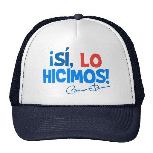 Obama Spanish Yes We Did Inauguration Mesh Hat