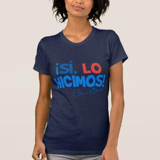 Obama Spanish Yes We Did Inauguration Tshirts