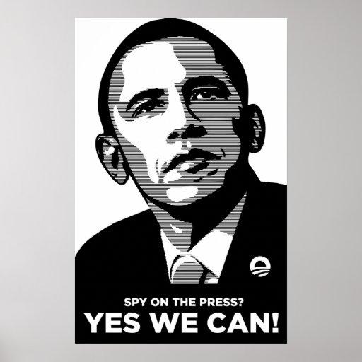 Obama Spy Press Scandal Poster