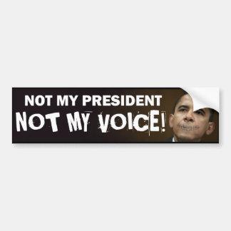 obama stitches not my president not my voice bumper sticker