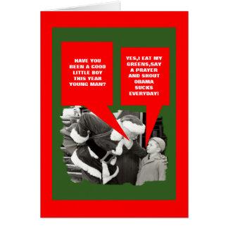 Obama sucks Christmas Card