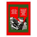 Obama sucks Christmas Greeting Cards