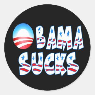 Obama Sucks Round Stickers