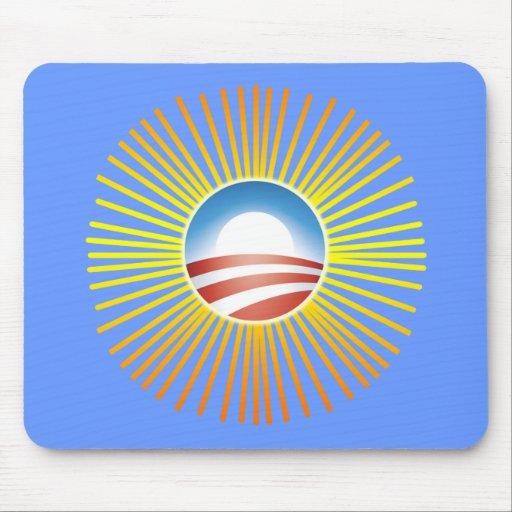 Obama Sun Design on Tshirts, Hoodies Mousepad