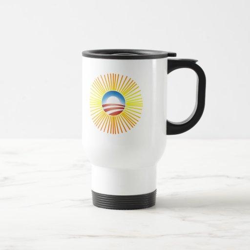 Obama Sun Design on Tshirts, Hoodies Coffee Mugs