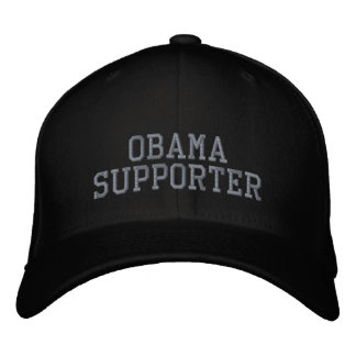 OBAMA SUPPORTER EMBROIDERED BASEBALL CAPS