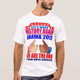 Obama T-Shirt: 2012 Obama - Make History + Thumbs T-Shirt