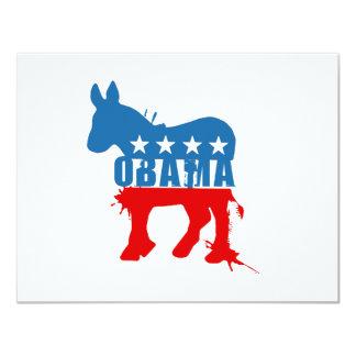 Obama T-shirt 11 Cm X 14 Cm Invitation Card
