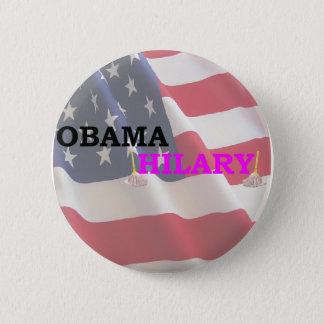 Obama Takes Hilary 6 Cm Round Badge