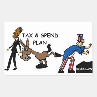 Obama Tax & Spend Plan Rectangular Stickers