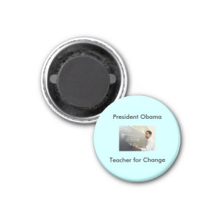 Obama teaching, President Obama, Teacher for Ch... 3 Cm Round Magnet