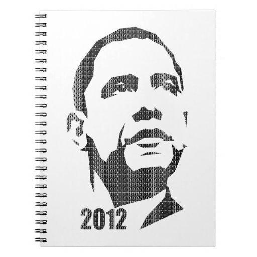 Obama Text Design 2012 Note Book
