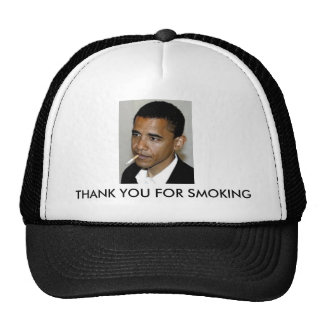 Obama, Thank You For Smoking Cap