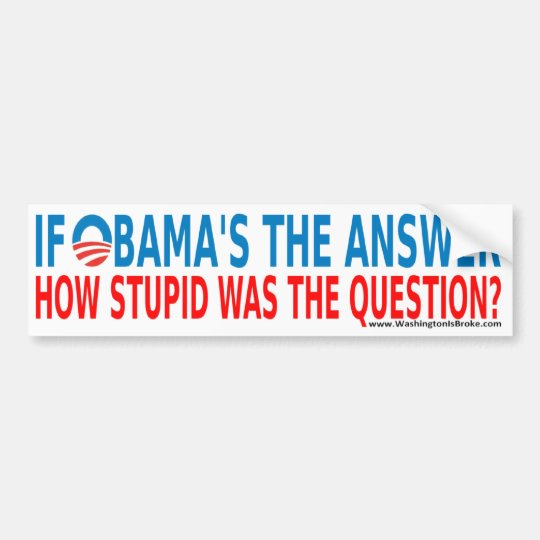 Obama The Answer Bumper Sticker