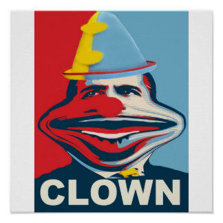 Obama The Clown Poster