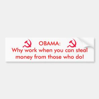 Obama the communist bumper sticker