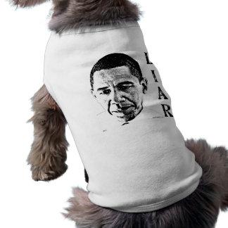 Obama the Liar Sleeveless Dog Shirt